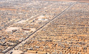 Syrian Za'atri Refugee Camp. Photo by U.S. Department of State [Public domain], via Wikimedia Commons