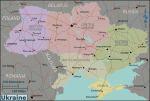 Image By Peter Fitzgerald (:Image:Ukraine regions map.svg) [GFDL (http://www.gnu.org/copyleft/fdl.html) or CC-BY-SA-3.0-2.5-2.0-1.0 (http://creativecommons.org/licenses/by-sa/3.0)], via Wikimedia Commons