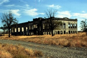 Hanford High after abandonment. Photo by Department of Defense (Public Domain)