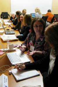 "Connie Reece and others offer ""social media therapy"" sessions during the Austin Women in Technology (AWT) Business Conference. By TheSeafarer [CC-BY-2.0 (http://creativecommons.org/licenses/by/2.0)], via Wikimedia Commons"