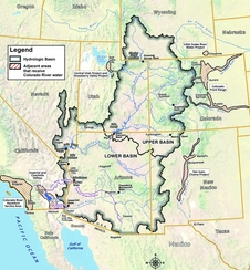 Colorado River Basin. Graphic by U.S. Bureau of Reclamation