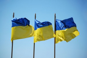 Ukrainian flags. Photo uploaded by Vladimir Yaitskiy (Flickr: Ukrainian flags) [CC-BY-SA-2.0 (http://creativecommons.org/licenses/by-sa/2.0)], via Wikimedia Commons