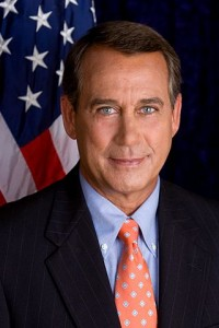 Speaker of the House John Boehner (public domain) via Wikimedia Commons