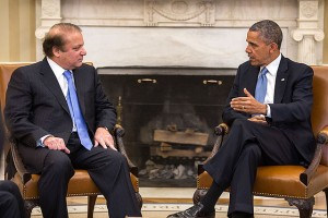 Nawaz Sharif and Barack Obama 2013. By Office of the Press Secretary, US Federal Government via Wikimedia Commons