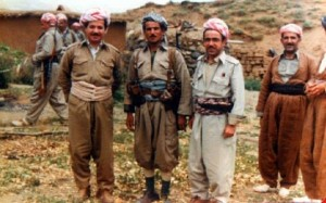 Peshmerga soldiers in traditional garb. Photo via Facebook