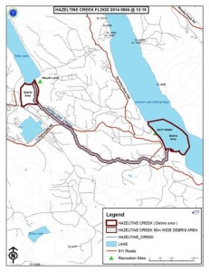 Map by the Cariboo Regional Emergency Operations Centre