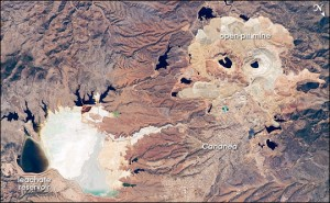Buenavista (Cananea) copper mine. Photo by NASA International Space Station (public domain) via Wikimedia Commons