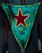 Flag of the YPG. By LibComInt (Own work) [CC-BY-SA-4.0], via Wikimedia Commons