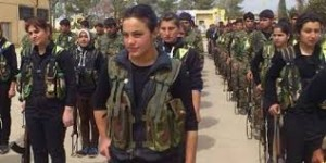 Kurdish YPJ forces. Image via Twitter.