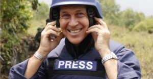 Peter Greste in the field. Image via FaceBook.