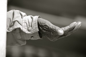 """""""The Hand"""" By Alex Proimos from Sydney, Australia [CC-BY 2.0 (http://creativecommons.org/licenses/by/2.0)], via Wikimedia Commons"""