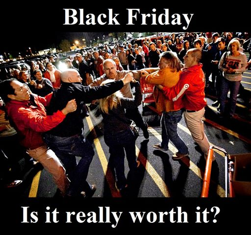 Photo courtesy of Boycott Black Friday via FaceBook