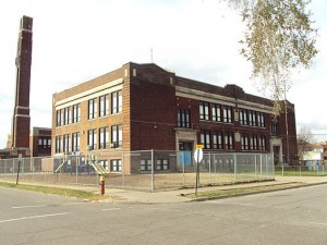 Bennett Elementary School, Detroit, Michigan. Photo by Notorious4life at en.wikipedia [Public domain], via Wikimedia Commons
