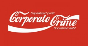 When corporations write their own rules, it's no wonder the common good is kicked to the curb. Image from occupy.com via FaceBook.