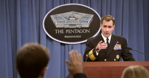 Rear Admiral John Kirby, the Pentagon's press secretary. Photo: US Department of Defense/flickr/cc