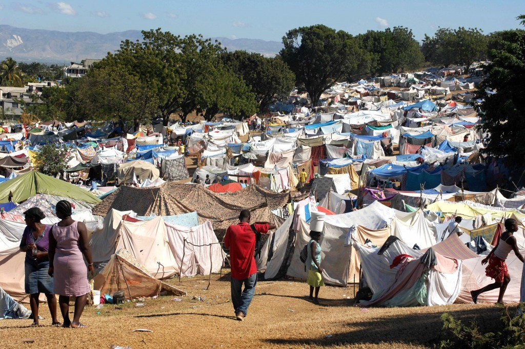 Haiti refugee camp. Photo by Jonathan M. Katz