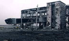 Donetsk airport, once the pride of the city, has been completely demolished. Image via Twitter.
