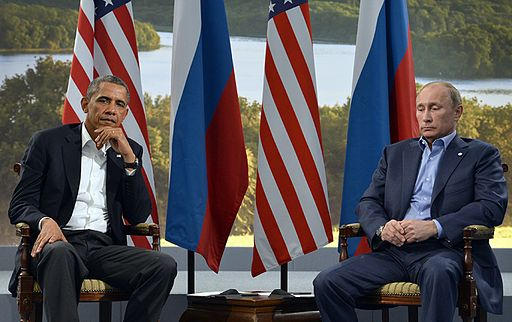 Barack Obama and Vladmir Putin at G8 summit 2013. Photo by ShadowNinja1080 (Own work) [CC BY-SA 4.0], via Wikimedia Commons