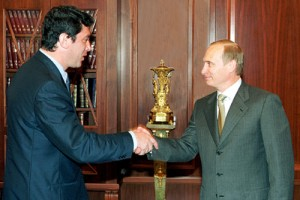 Vladmir Putin and Boris Nemtsov, 2000. Photo Kremlin.ru [CC BY 3.0], via Wikimedia Commons