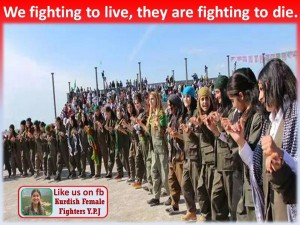 Zozan Curdi's infamous words have become the battle cry for the YPJ forces. Image via Facebook.