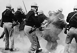 Alabama police attack Selma-to-Montgomery Marchers, March 7,1965. Photo by Federal Bureau of Investigation [Public domain], via Wikimedia Commons