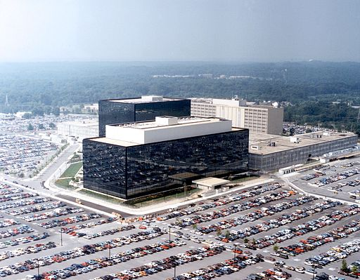 NSA headquarters in Fort Meade, Maryland. Photo public domain via Wikimedia Commons