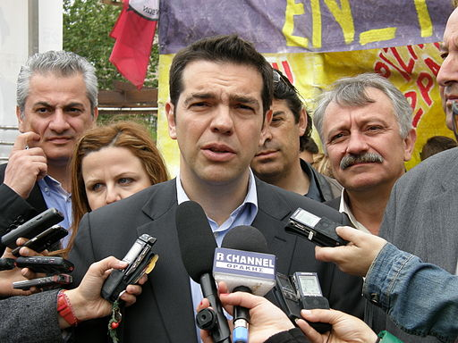 Alexis Tsipras. Photo by Joanna (Flickr: Επίσκεψη Αλέξη Τσίπρα στην Κομοτηνή) [CC BY 2.0], via Wikimedia Commons