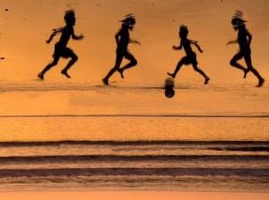 Tribute to four boys killed on Gaza beach. Image via Twitter.