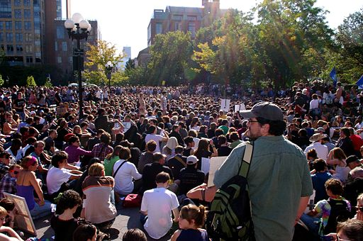The Occupy Wall Street General Assembly meets in Washington Square Park for the first time on Saturday, October 8, 2011. Photo by David Shankbone (Own work) [CC BY 3.0], via Wikimedia Commons