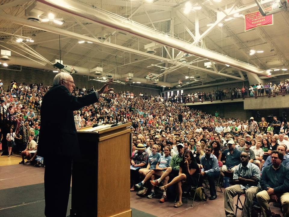 Bernie Sanders in Denver on June 20, 2015. Photo via Facebook