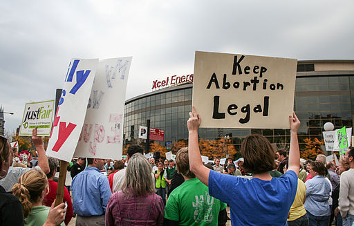 "A protest against Focus on the Family's ""Stand for the Family"" event at the Xcel Energy Center, planned by OutFront Minnesota. Photo by Tony Webster from Portland, Oregon, United States [CC BY 2.0], via Wikimedia Commons"