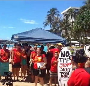 Protesters in Hawaii. Photo by Akaku Maui Community Media