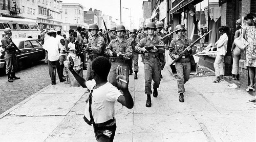 Photo: A scene of the 1967 Newark Rebellion, by Don Hogan Charles.