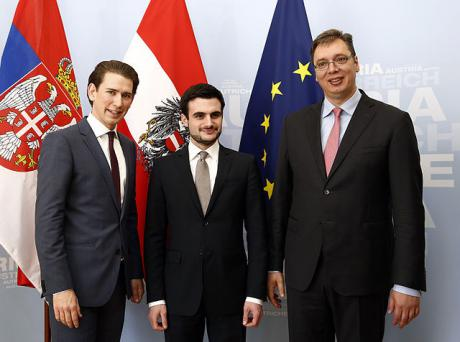 Austrian foreign minister meets Serbian finance minister and Prime Minister Aleksandar Vučić. Wikicommons. Some rights reserved.