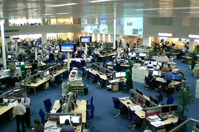 Telegraph newsroom by antony_mayfield, via flickr