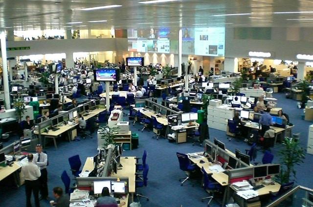 Telegraph newsroom by antony_mayfield, via flickr