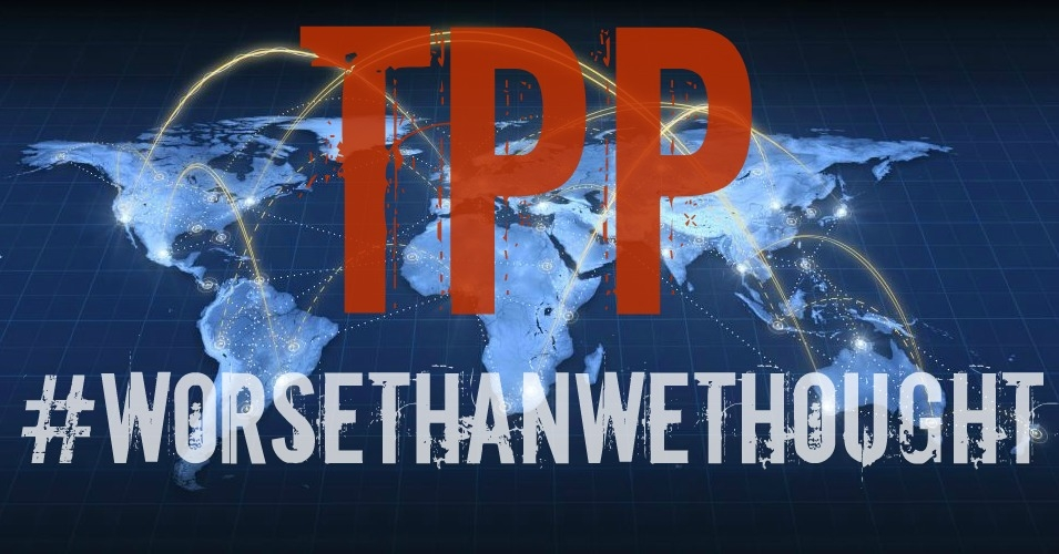 Text released today confirms the TPP rolls back past public interest reforms to the U.S. trade model while expanding problematic provisions demanded by the hundreds of official U.S. corporate trade advisers who had a hand in the negotiations while citizens were left in the dark. (Image: File w/overlay)