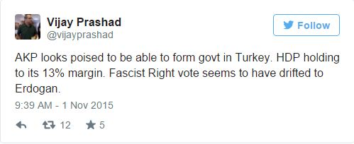 Turkey elections tweet