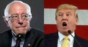 ABC World News Tonight devoted a total 81 minutes this year to Donald Trump's campaign and just about 20 seconds to Sanders' candidacy—a ratio of 81:1. (Photos: RawStory.com)