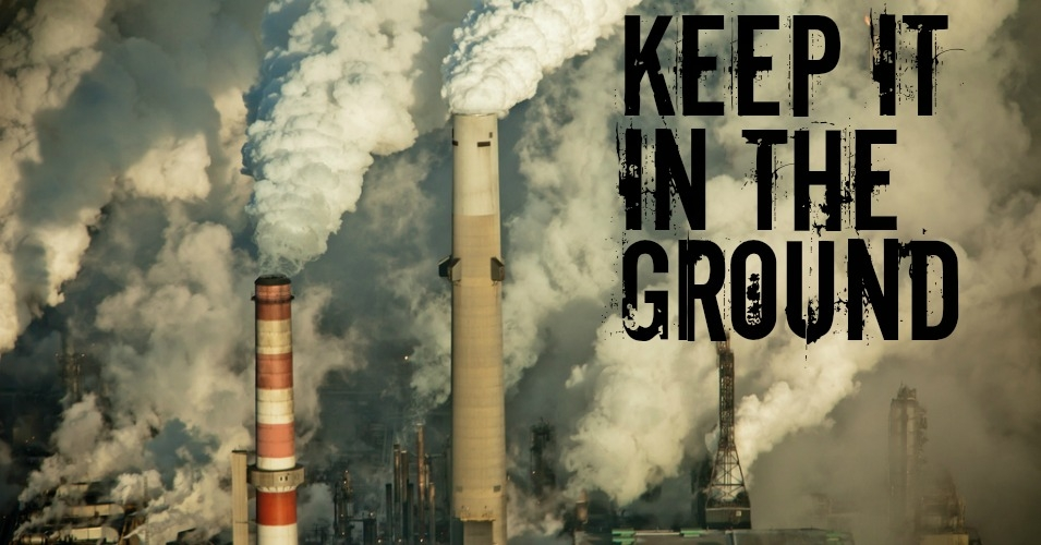 """Keeping fossil fuels in the ground has quickly become the new standard for climate leadership,"" said Jason Kowalski, policy director of 350.org. (Photo: kris krüg/flickr/cc/with overlay)"