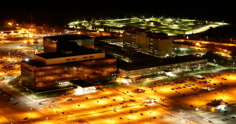 The National Security Agency headquarters at night. (Photo: CreativeTime Reports/flickr/cc)