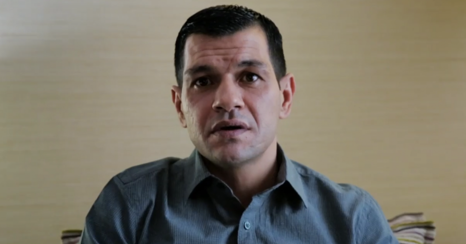 Abdullah Kurdi, a Syrian refugee whose son drowned off Turkey this year, recorded a holiday message for Britain's Channel 4. (Image: Channel 4)