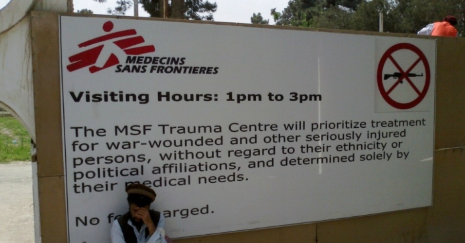 The bombing in October killed at least 42 patients and staff. (Photo: MSF)