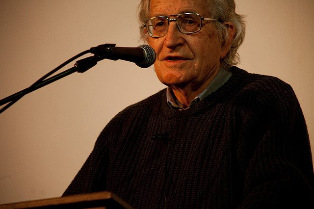 Noam Chomsky. Photo via AKIN.