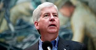 Michigan Governor Rick Snyder has been named in numerous lawsuits by Flint residents seeking justice for the lead-tainted water crisis. Image via CommonDreams.org.