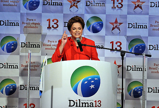 Dilma Rousseff at the 2010 Workers Party Convention. Photo: Valter Campanato/ABr (Agência Brasil) [CC BY 3.0 br], via Wikimedia Commons