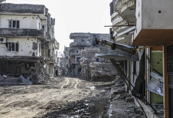 "Cizre after security forces ""secured"" the city. Image via Twitter."