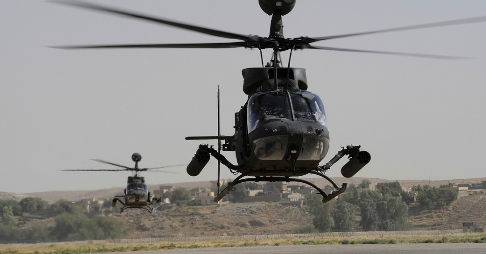 U.S. Army helicopters arrive in Mosul. (Photo: United States Forces Iraq/flickr/cc_
