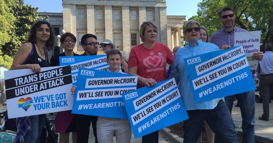 A few of the plaintiffs in the federal court challenge brought by Lambda Legal, the ACLU, and the ACLU of North Carolina. (Photo: ACLU of North Carolina)