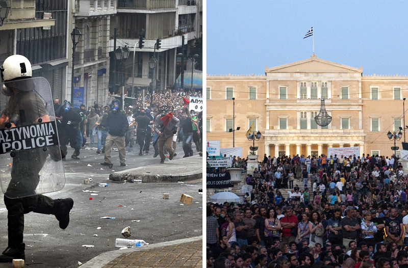 Anti-austerity protests in Greece. Image credit: Philly boy92